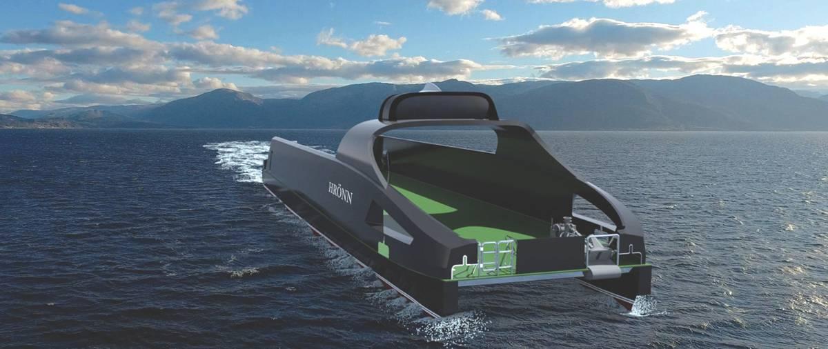 Hrönn: Το μη επανδρωμένο σκάφος πολλαπλών χρήσεων του Kongsberg. (Φωτογραφία ευγένεια DNV GL / Kongsberg)