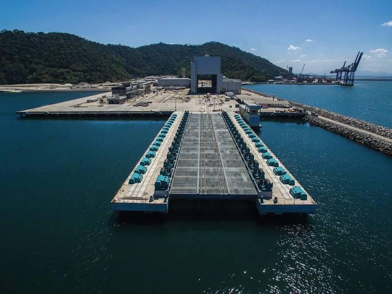 ICN海军造船厂位于最前沿的潜艇电梯。 Image Marinha do Brasil