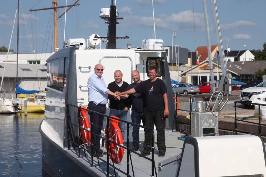Kjetil Nygaard, ProZero Norway; Karl Johan Ferkingstad, Akva Marine Service; Jarle Birkeland, Akva Marine Service; e Jakob Frost, Tuco Marine. (Foto: Tuco Marine)