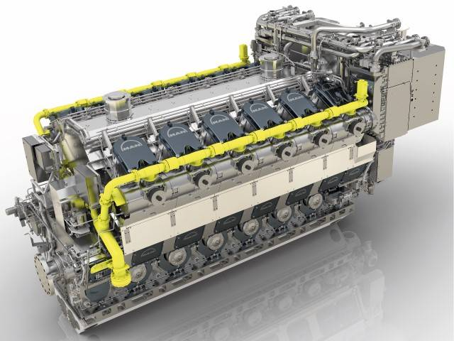 MAN 51 / 60DF-Motor (Bild: MAN Energy Solutions)