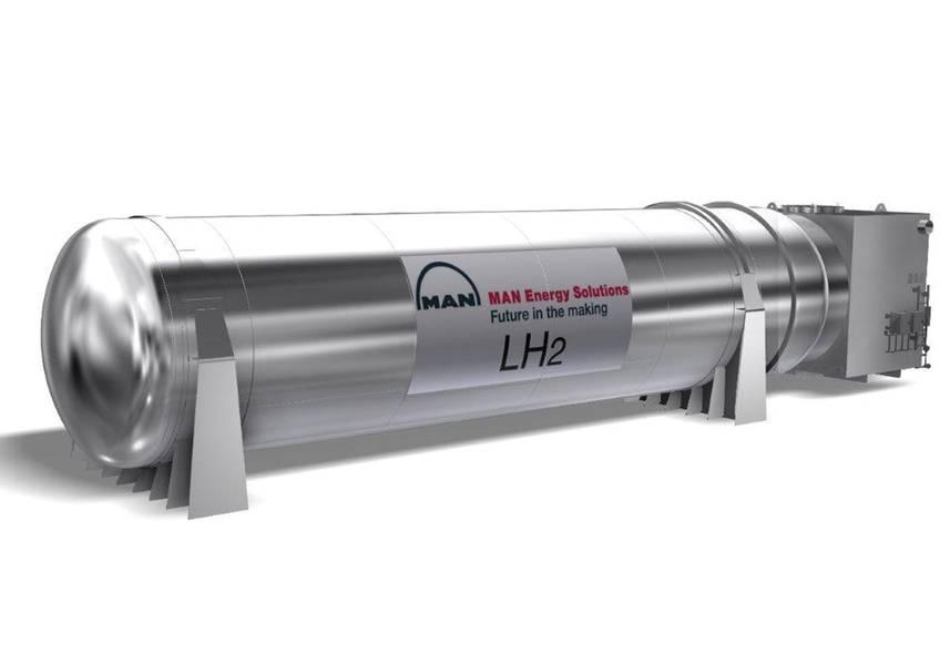 A MAN CRYO, em cooperação com a Fjord1 e a Multi Maritime, desenvolveu um sistema marinho de gás combustível para o hidrogênio liquefeito. Imagem: MAN Cryo