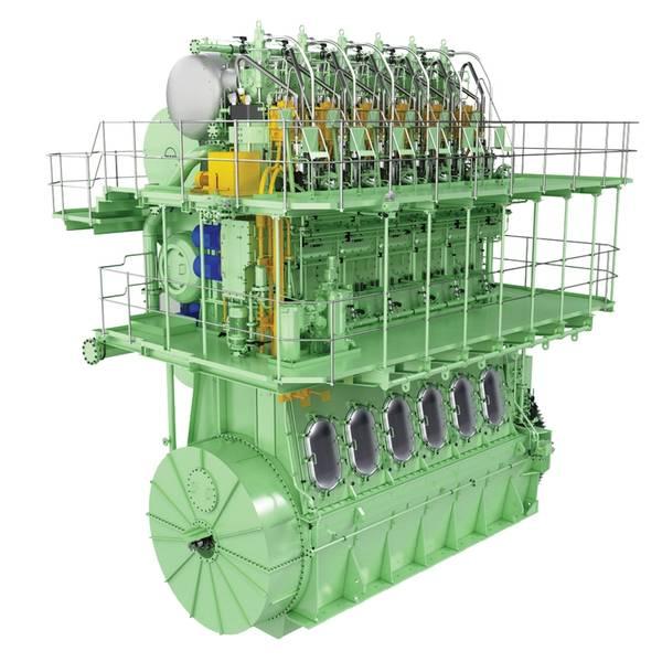 MAN B & W इंजन ME-GI टाइप करता है। © MAN ES