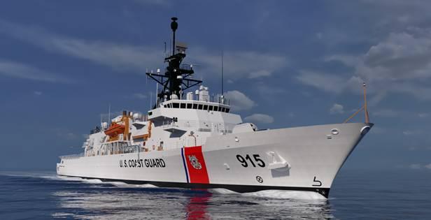 Projeto de OPC do ESG como descrito em andamento. O contrato Offshore Patrol Cutter é o maior projeto da história de 228 anos da Guarda Costeira. O ESG relata que todos os funcionários dedicados a este projeto voltaram ao trabalho. (CRÉDITO: ESG)