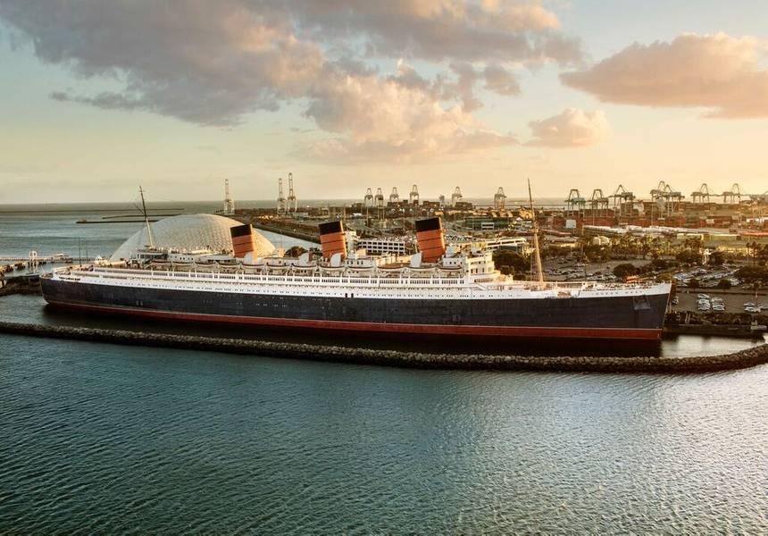 O Queen Mary atracou em Long Beach, Califórnia (Foto: Urban Commons)