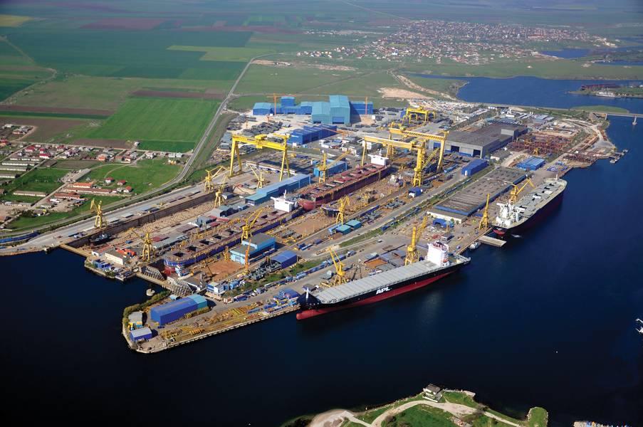 Recientemente, Damen se hizo cargo del astillero Mangalia de DSME en Rumania. (Foto: Damen)