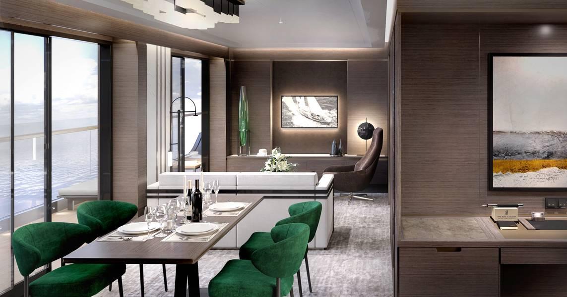 Sala de estar de la gran suite. Editorial: Diseño de Tillberg de Suecia