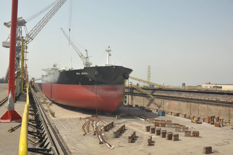 Sea Jewel是第一艘从ASRY接收BWTS改造的AMPTC船(照片:ASRY)