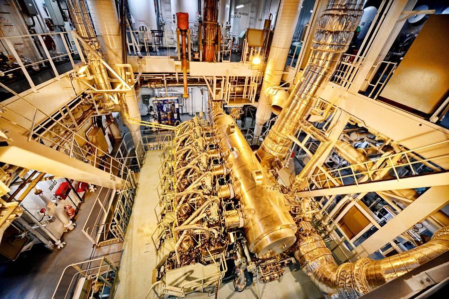 Sinta o poder do metanol: esses navios de 49.000 dwt são construídos com a segunda geração de motores bicombustíveis MAN B&W ME-LGIM de dois tempos que podem funcionar com metanol e combustíveis marinhos convencionais. Foto: Methanex Corporation