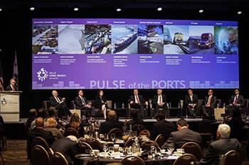 """Supply-Chain-Experten versammeln sich zum jährlichen """"Pulse of the Ports"""" in Long Beach. Foto Long Beach Port"""