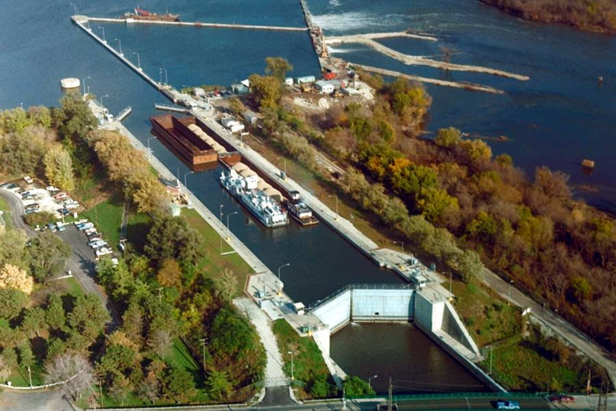 Verhungerte Felsensperre, ACE Rock Island District (Bildnachweis: USACE)