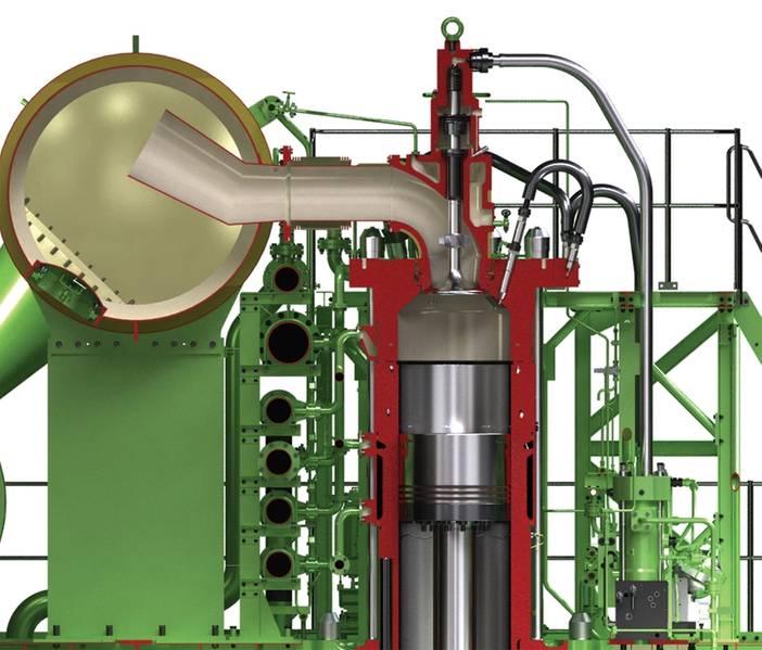 Vista seccional do sistema de injeção ME-CI. © MAN ES