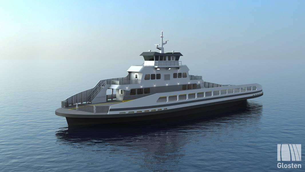 El ferry eléctrico de pasajeros / vehículos para el condado de Skagit de Washington. Fotos: Glosten