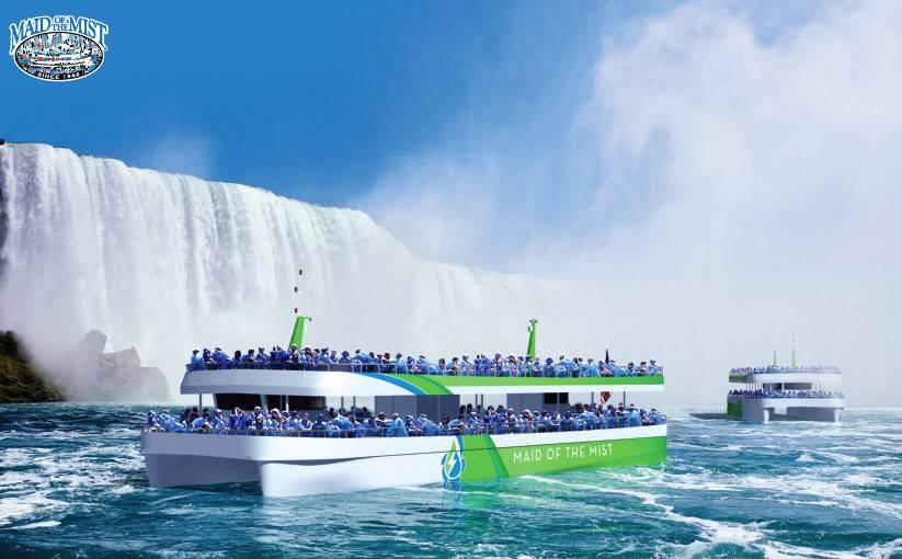 O operador turístico das Cataratas do Niágara, Maid of the Mist, encomendou recentemente duas novas embarcações de passageiros navegando com energia elétrica pura, possibilitadas pela tecnologia da ABB. IMAGEM: ABB