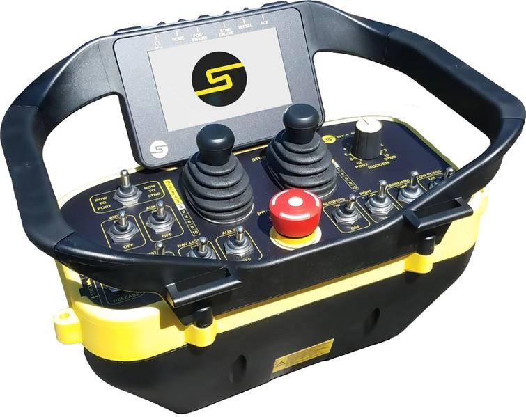 O sistema de leme sem fio SM200 da Sea Machines (Imagem: Sea Machines)