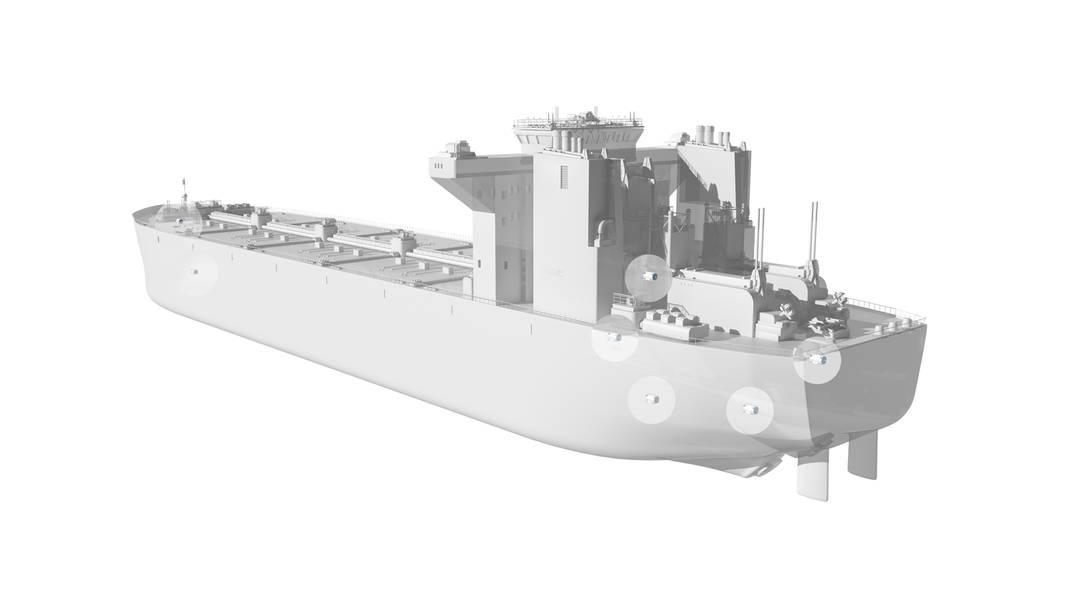 Os vários locais em que os motores resfriados a água podem ser encontrados em um navio. Imagem: ABB