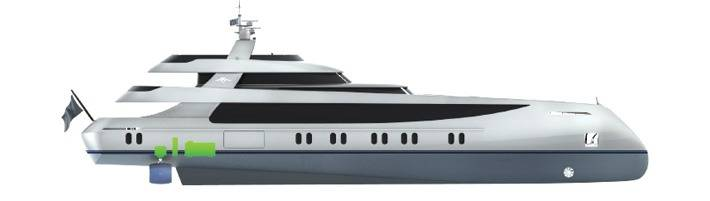 Megayacht electro magnetic propulsion system a world