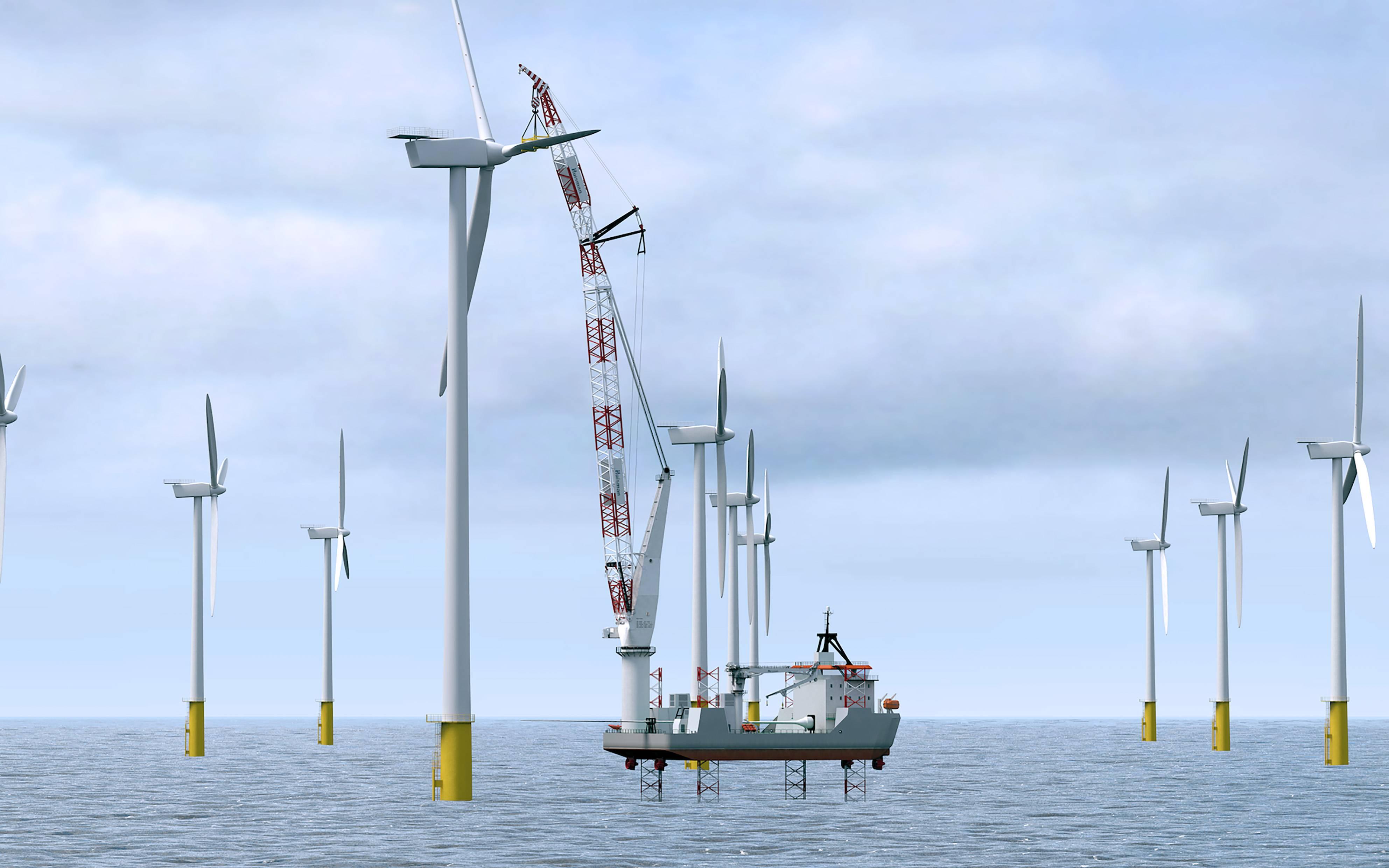 New Crane For Offshore Wind Turbine Repair
