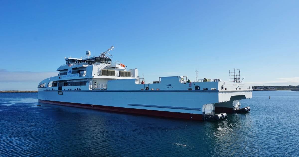 Offshore Marine Services Australia : Austal launches offshore crew transfer vessel for cms