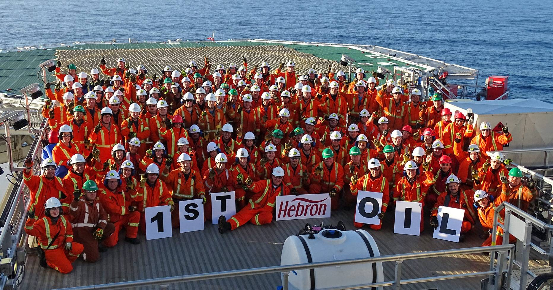 Hebron celebrates first oil production