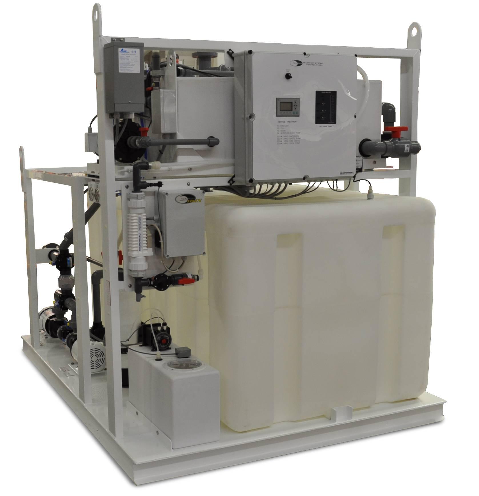 headhunter installs sewage treatment plant on aet. Black Bedroom Furniture Sets. Home Design Ideas