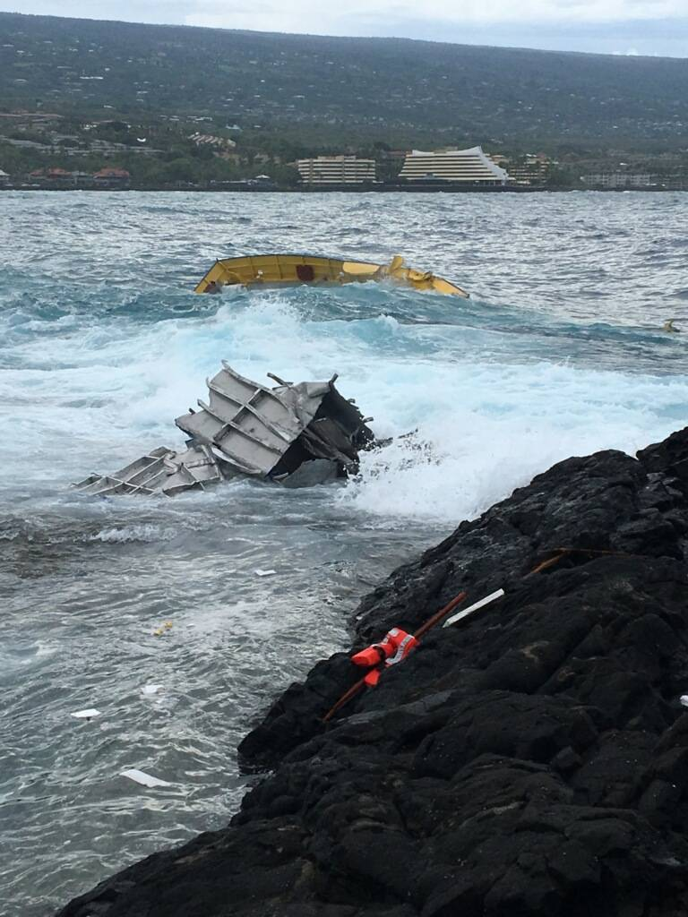 Boat Shelter Flood : Passenger vessel runs aground off hawaii