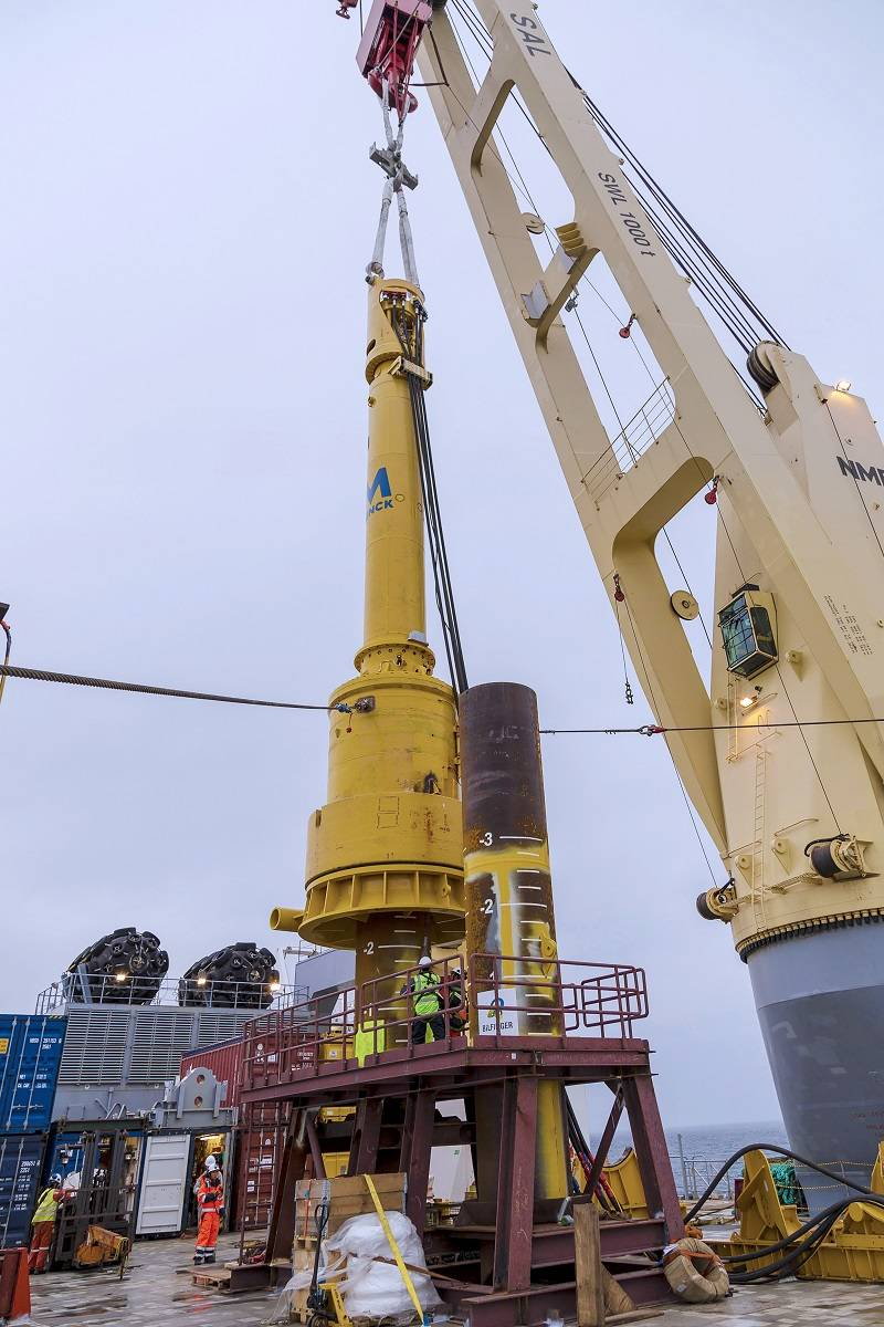 pile testing for wikinger wind farm launched