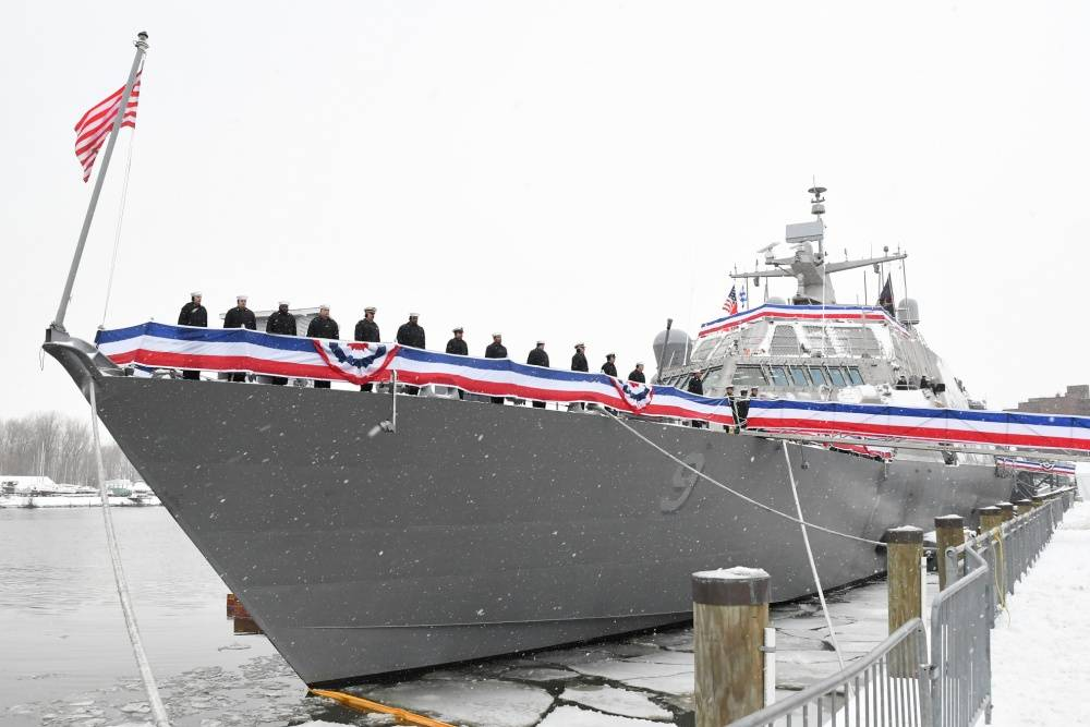 Brand-new Navy ship still stuck in Canada due to icy conditions