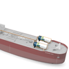 Rendering of Clipper Eos with Wärtsilä's Carbon Capture & Storage (CCS) system installed. (Image: Wärtsilä)