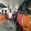 Rescued fishermen and ISL Star crew (Photo: Wallem)