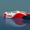 The 109 meter long wave-piercing vessel will be the third Incat built high speed catamaran to join the Naviera Armas fleet. (Image: Wärtsilä)