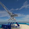 The E5000 system, with its full motion compensation, will be able to transfer people and up to 5 tons of cargo in rough waters. (Image: Ampelmann)