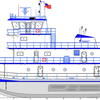 Twin electric V-Pod propulsion and diesel-electric technology combined. Image courtesy of Eastern Shipbuilding