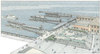 Artist's rendering of the San Francisco Ferry Expansion Project scheduled for completion in 2019. Rendering courtesy of ROMA Design Group, architects for WETA.