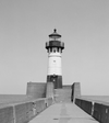 Duluth Harbor North Pier Light (U.S. Library of Congress photo)