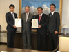 (L to R): H.G. Son, DSME Tokyo Representative; Kazuo Yamashita, Country Chief Executive, Bureau Veritas Marine & Offshore, Japan; Yoshikazu Kawagoe, Senior Managing Executive Officer and Chief Technical Officer, Mitsui O.S.K. Lines; and Hiroyuki Nakano, Executive Officer, Energy Transport Business, Mitsui O.S.K.Lines  (Photo: BV)