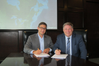 Mr. Shaun Padulo, President at Heddle Marine (left) and Mr. Terry McGowan (right), President and CEO at Thordon Bearings (Photo: Thordon Bearings)