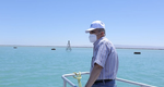 Lieutenant General Osama Rabie witnesses the start of dredging work in the Suez Canal (Photo: Suez Canal Authority)