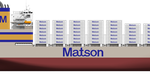 """Matson's newest vessel, the largest combination container / roll-on, roll-off (""""con-ro"""") ship ever built in the United States. Image Credit: NASSCO"""