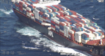 At least nine containers are reported to be protruding from APL England after the ship lost at least 40 containers overboard off the coast of Australia. (Photo: AMSA)