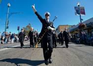 Chief Musician Scott Foote Leads: Photo credit USN