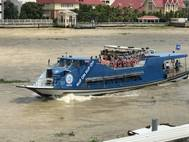 """The """"Hop On Hop Off"""" tourist boat is now one of the best ways to see Bangkok. (Photo: Chao Phraya Express Boat Ltd.)"""