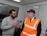 The Foreign Secretary Boris Johnson visiting Coldharbour Marine (Credit: Nottingham Post / Coldharbour Marine)