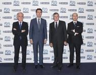 Left to right: Managing Director of SENER, Jorge Unda; Spanish Minister of Industry, Energy and Tourism, José Manuel Soria; President of SENER, Jorge Sendagorta; and Marine General Manager of SENER, Rafael de Góngora. (Photo: SENER)