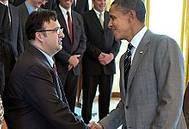 Briseno Meets President Obama: Photo credit ONR