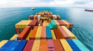 Cargo ships entering one busiest ports in world Singapore Photo OL International Holdings