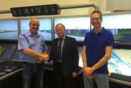 From left to right: Arie van der Ven, Manager Maintenance & Projects Chemgas Shipping; Luuk Vroombout, CEO Alphatron Marine; and Dennie van Kempen (QSHE Manager).