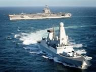 HMS Daring & USS Carl Vinsion: Photo credit USN
