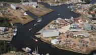 File Image: An aerial view of Horizon Shipbuildings Bayou La Batre, Alabama facilities. CREDIT: Horizon Shipbuilding