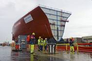 Hull section of HMS Prince of Wales (Photo: BAE Systems)