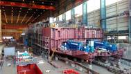 LNG powered hopper Minerva under construction in Kinderdijk Photo Royal IHC